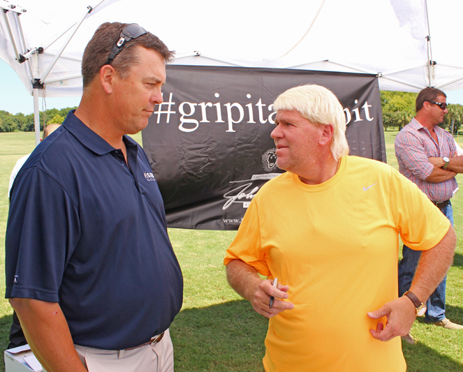 John Daly with Sean Fister at Patriots Point