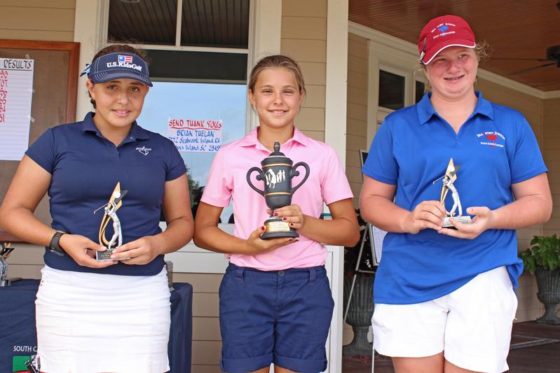 Girls 11-13 top 3: Sophie Burnett, Telie McCoy, Gaby Martinez