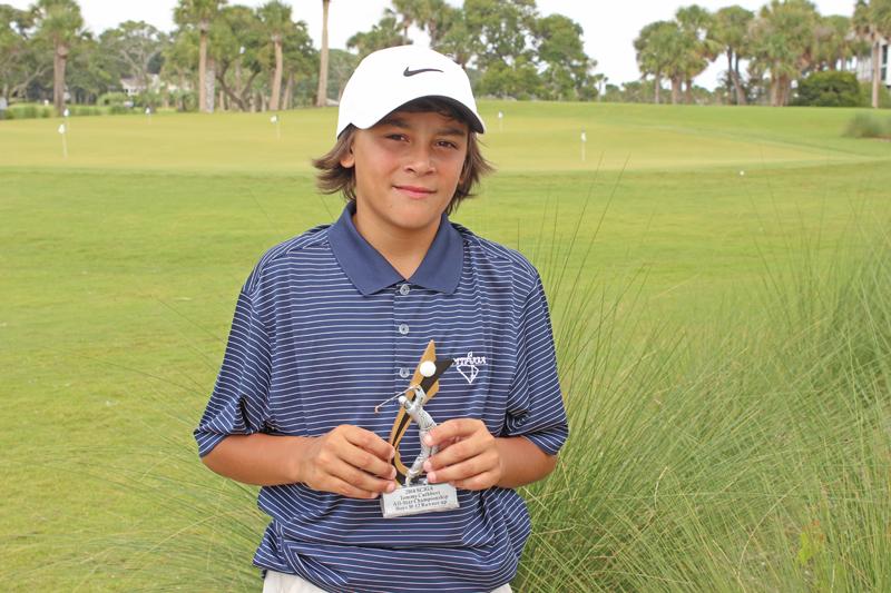 Boys 10-12 runner-up Luis Thompson